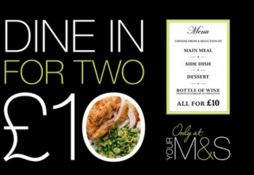 first of the new year m s dine in for two for 10. Black Bedroom Furniture Sets. Home Design Ideas