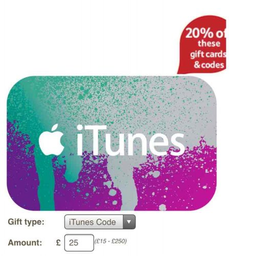 tesco itunes cards codes 5 off of a 25 card code 20. Black Bedroom Furniture Sets. Home Design Ideas