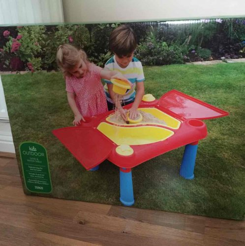 Outdoor Sand And Water Table 163 13 Tesco Instore Hotukdeals