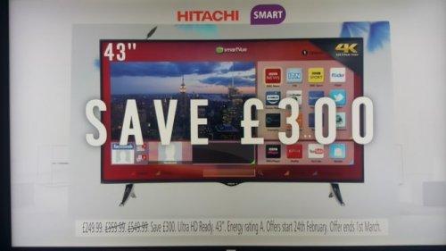 hitachi 43 uhd 4k smart tv argos hotukdeals. Black Bedroom Furniture Sets. Home Design Ideas