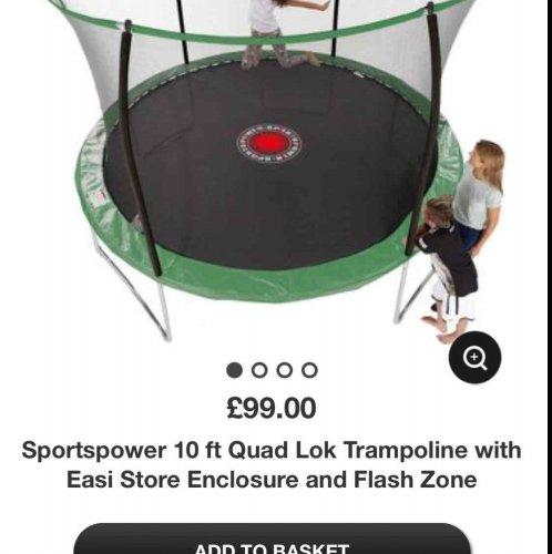 10ft Trampoline £99 At Asda Direct