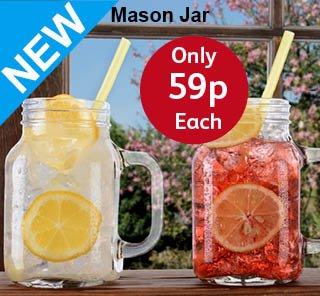 mason jars 59p at poundstretcher hotukdeals. Black Bedroom Furniture Sets. Home Design Ideas