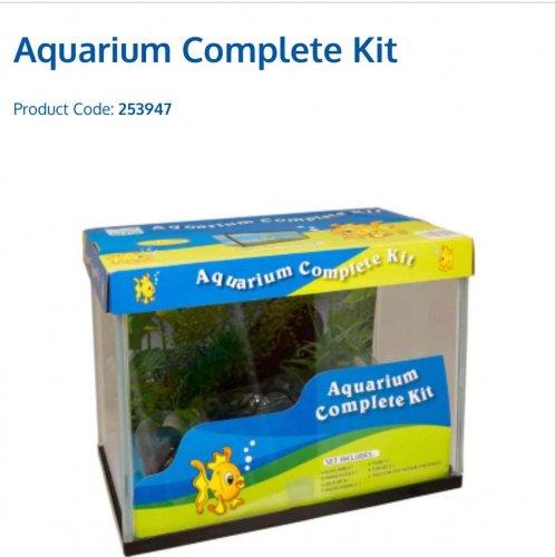 B m complete aquarium fish tank kit 31 x 24 x 18cm 12 for Fish tank deals