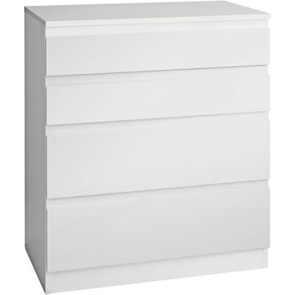 Hygena Harpur High Gloss 4 Drawer Chest White 30 Cheaper Than Ikea Hom