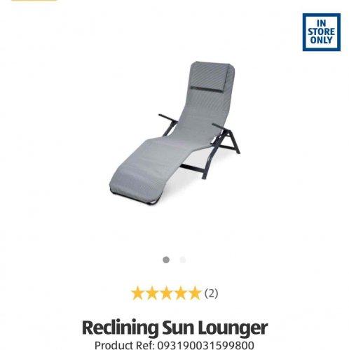 sun lounger aldi in store 25 hotukdeals. Black Bedroom Furniture Sets. Home Design Ideas