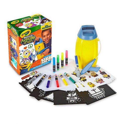 crayola marker airbrush art set minions crayola. Black Bedroom Furniture Sets. Home Design Ideas