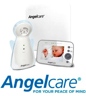 win the new angelcare ac1300 video movement and sound baby monitor worth gurgle. Black Bedroom Furniture Sets. Home Design Ideas