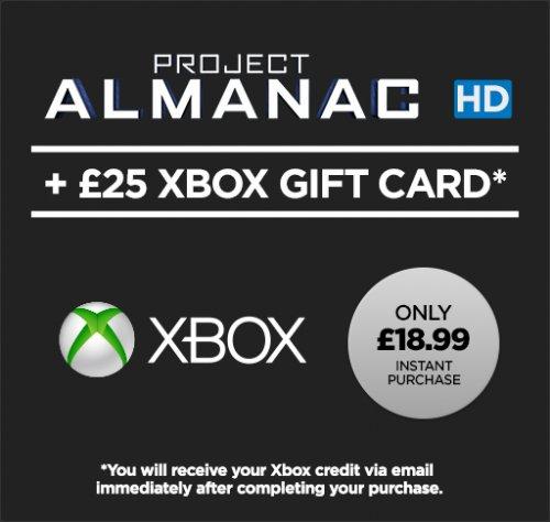 Project Almanac HD (Movie) + £25 XBOX Gift Card