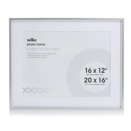 20 x 16 silver picture frame with mount at. Black Bedroom Furniture Sets. Home Design Ideas