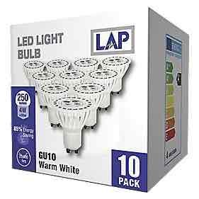 10 pack of gu10 4w led bulbs at screwfix 50 off. Black Bedroom Furniture Sets. Home Design Ideas