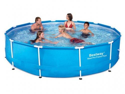 8ft Bestway Steel Frame Swimming Pool Was Now Free Del Groupon Hotukdeals