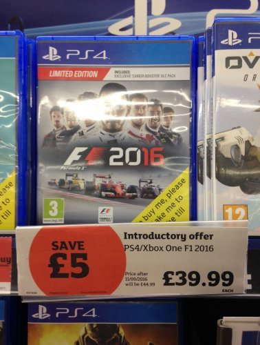 f1 2016 ps4 xbox one in store sainsbury 39 s hotukdeals. Black Bedroom Furniture Sets. Home Design Ideas