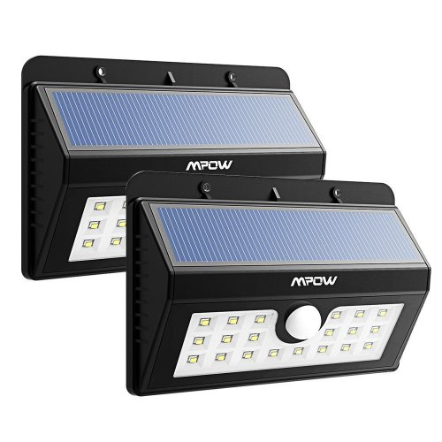 Best Outdoor Security Lights Uk: 2 X 20 LED Solar Lights, Mpow 3-in-1 Wireless Weatherproof