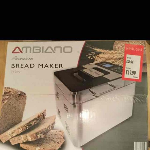 aldi premium stainless steel bread maker reduced from 49. Black Bedroom Furniture Sets. Home Design Ideas