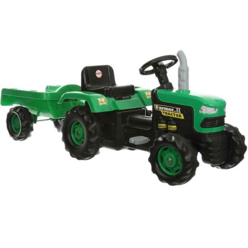 Metal Pedal Tractor Loader : Kids dolu tractor trailer fab price at halfords free