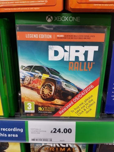 dirt rally for xbox one 24 tesco hotukdeals. Black Bedroom Furniture Sets. Home Design Ideas