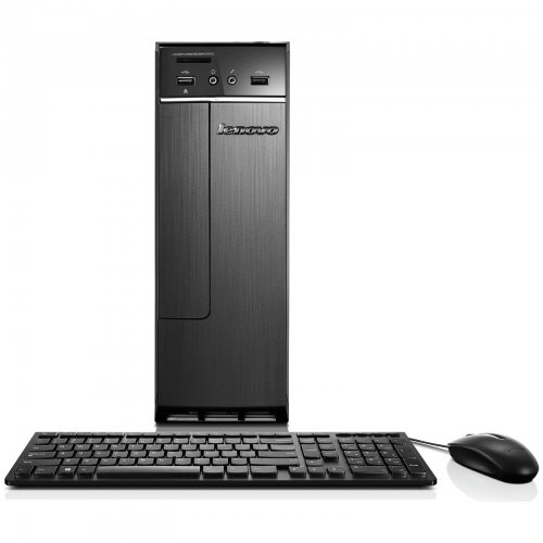 lenovo celeron 8gb 2tb windows 10 desktop tower black with keyboard and mouse refurb. Black Bedroom Furniture Sets. Home Design Ideas