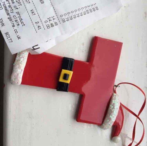 Christmas Tree Letter Decorations 79p Home Bargains Hotukdeals