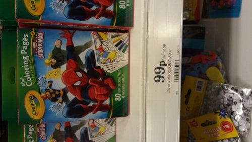 crayola ultimate spiderman mini coloring pages crayola ultimate spider man mini colouring pages 99p