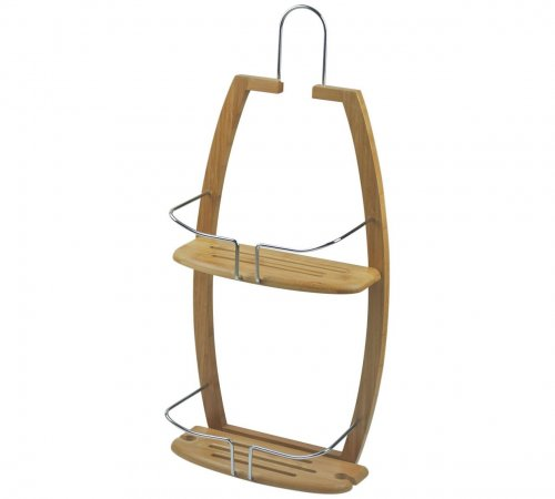 collection bamboo and metal shower caddy argos. Black Bedroom Furniture Sets. Home Design Ideas
