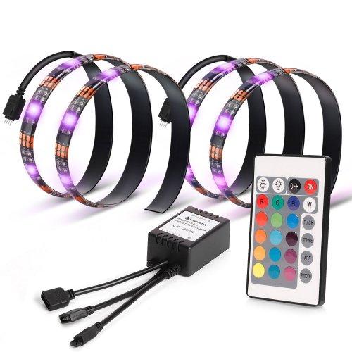 Led Home Theater Tv Back Light Bias Accent Lighting Kit: Vansky® TV Backlight For HDTV 2 LED Strips Lights, Multi