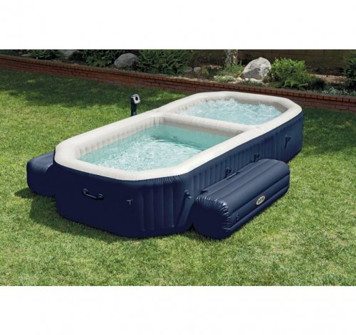 Intex pure spa with plunge pool argos 500 off now for Garden pool argos