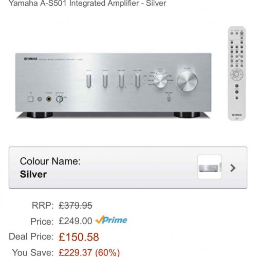 Yamaha a s501 integrated amplifier amazon prime for Yamaha audio customer service