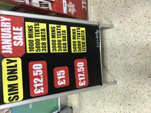 Sim only deals tesco mobile
