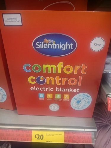silentnight comfort control electric blanket king size 20. Black Bedroom Furniture Sets. Home Design Ideas
