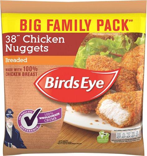 Birds Eye Chicken (41%) Nuggets (Breaded 38 Pack = 720g