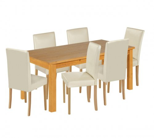Argos Table And Chairs In Sale: HOME Lanark Dining Table And 6 Chairs