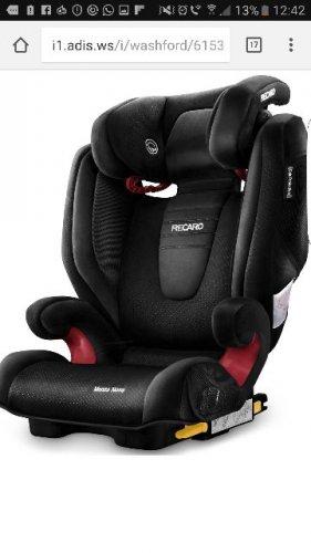 Recaro Monza Nova 2 High Back Booster Seat With Seatfix