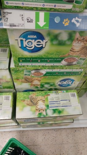 Asda Tiger Cat Food Pouches