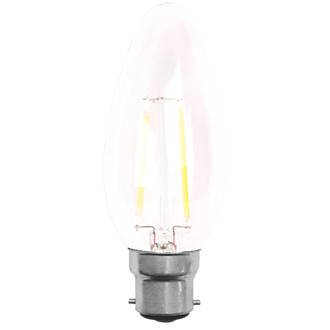 led 2w clear candle bayonet cap light bulbs click. Black Bedroom Furniture Sets. Home Design Ideas
