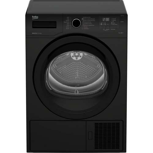 beko dhr73431b heat pump tumble dryer black or white. Black Bedroom Furniture Sets. Home Design Ideas