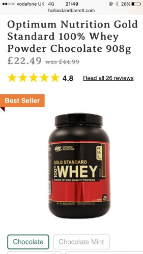 Optimum nutrition whey 908g