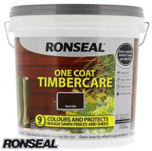 ronseal one coat timbercare 9l only home bargains. Black Bedroom Furniture Sets. Home Design Ideas