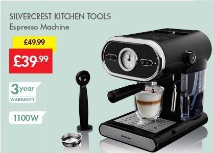 espresso machine was lidl silvercrest. Black Bedroom Furniture Sets. Home Design Ideas