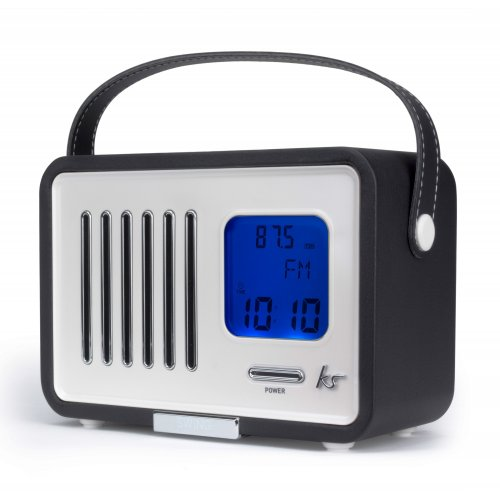 kitsound swing fm radio with alarm clock black at vodafone stores ebay hotukdeals. Black Bedroom Furniture Sets. Home Design Ideas