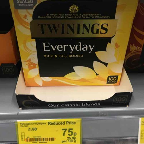 twinings everyday tea 100 bags 75p instore asda. Black Bedroom Furniture Sets. Home Design Ideas
