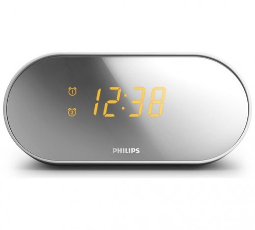 philips aj2000 mirrored clock radio was now argos c c hotukdeals. Black Bedroom Furniture Sets. Home Design Ideas