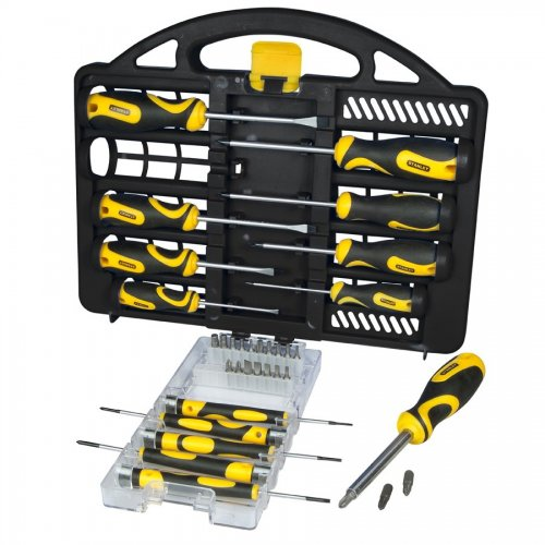 stanley 34 piece professional screwdriver set with carry case was no. Black Bedroom Furniture Sets. Home Design Ideas
