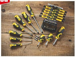 stanley 51 piece screwdriver set with carry case screwfix with fre. Black Bedroom Furniture Sets. Home Design Ideas