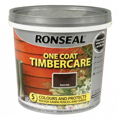 ronseal one coat timbercare paint 5litres for fence and. Black Bedroom Furniture Sets. Home Design Ideas