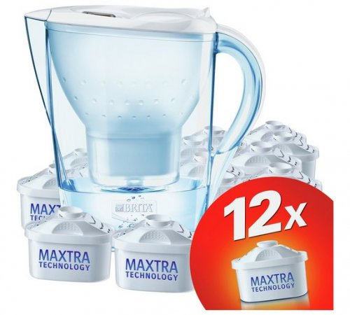 brita marella water filter jug 12 maxtra cartridges. Black Bedroom Furniture Sets. Home Design Ideas