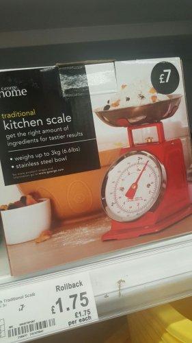 traditional kitchen scale only instore asda. Black Bedroom Furniture Sets. Home Design Ideas