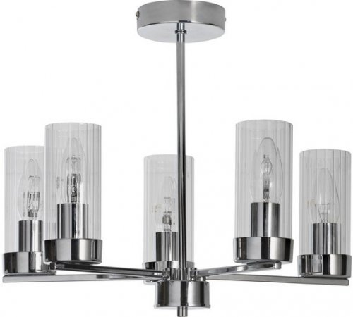 Ceiling Light Offers: Heart Of House Wallis 5 Light Glass & Chrome Ceiling Light