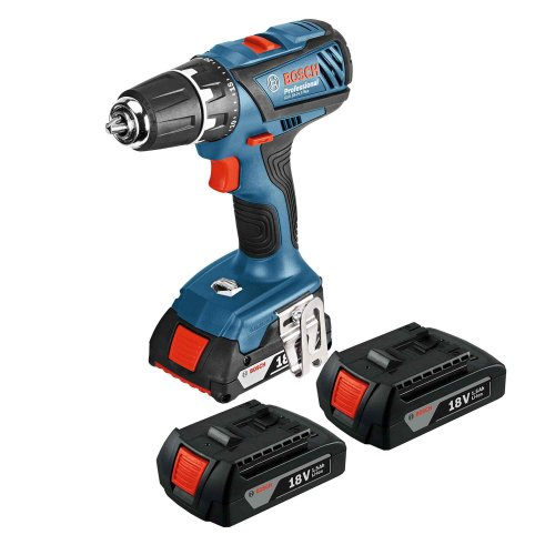 bosch cordless drill 18v with 3 batteries at b q was. Black Bedroom Furniture Sets. Home Design Ideas
