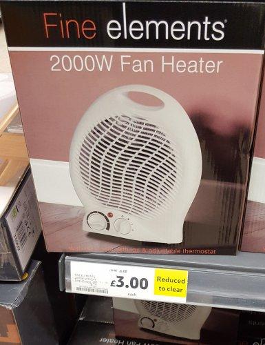 compact 2000w fan heater 3 at gillingham tesco hotukdeals. Black Bedroom Furniture Sets. Home Design Ideas