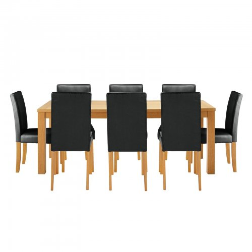 dining table and eight chairs argos ebay hotukdeals. Black Bedroom Furniture Sets. Home Design Ideas